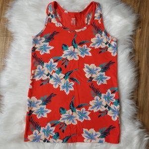 Old Navy Fitted Floral Tank Top